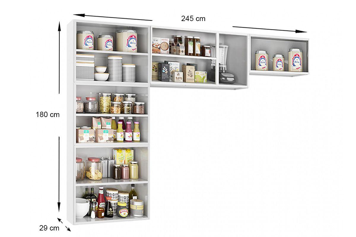 Cozinha Completa Telasul Rubi de Aço c/ 3 Peças (Paneleiro + 2 Armários) COZ101