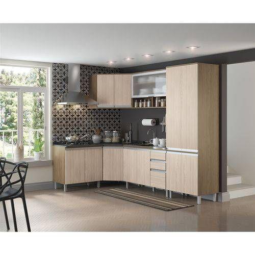Cozinha Completa Henn Integra c/6 Peças (Paneleiro+ 2Armários+ 3 Gabinetes s/Tampo)