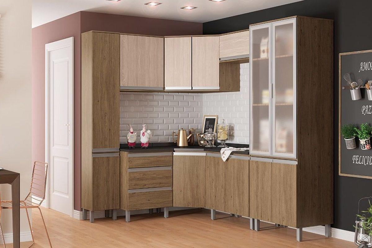 Cozinha Completa Henn Integra c/ 8 Peças (2 Paneleiros+ 3 Armário+3 Gabinete s/Tampo)