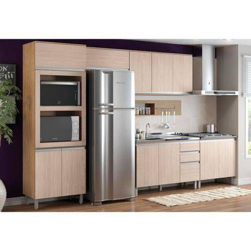 Cozinha Completa Henn Integra c/ 6 Peças (Paneleiro+ 2 Armários+ Painel de Cozinha+ 2 Gabinetes s/Tampo)