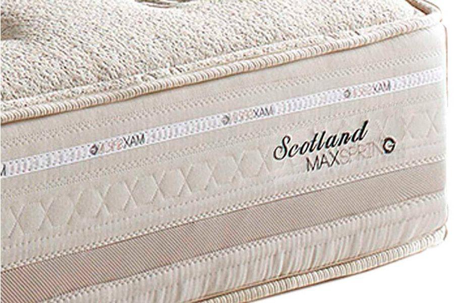 Conjunto Cama Box - Colchão Herval de Molas Maxspring Scotland + Cama Box Baú Courino White