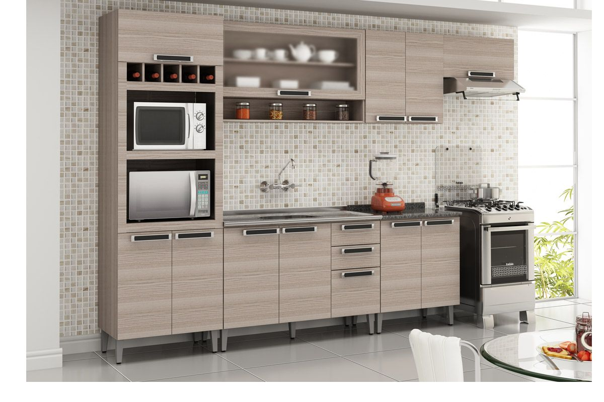 Armário de Cozinha Itatiaia Aéreo Jazz IP2 70 Madeira c/ 2 Portas  #A63B25 1200 800