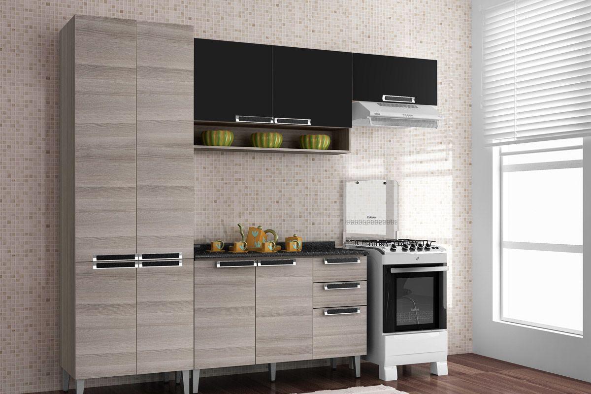 Arm Rio De Cozinha Itatiaia Jazz Madeira 1 Porta Horizontal  ~ Armario Para Cozinha Itatiaia
