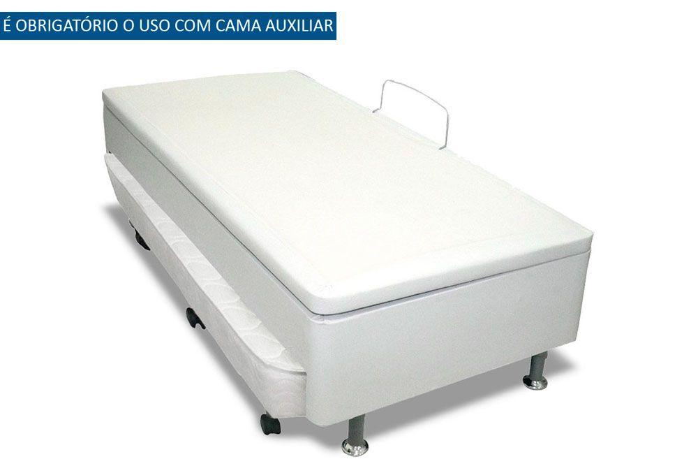 Bicama Baú  c/ Auxiliar Courino Bianco Ortobom  (Obrigatório a compra Cama Baú + Auxiliar)