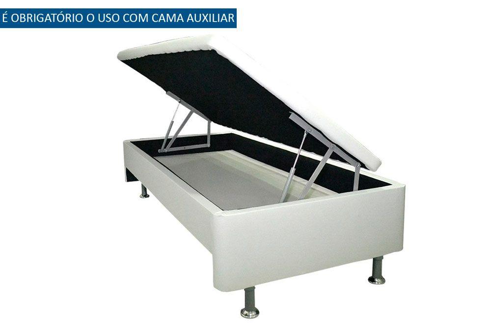 Bicama Baú  c/ Auxiliar  Courino Bianco Ortobom
