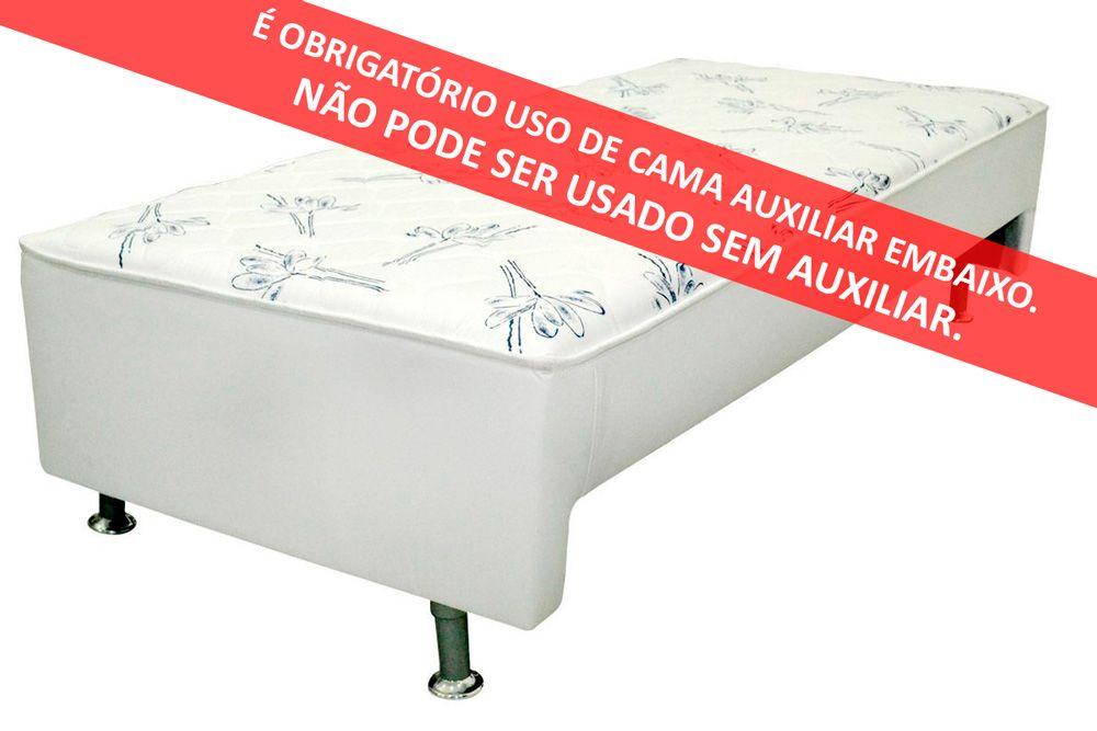 Conjunto Box + Colchão Conjugado Ortopédico c/ Auxiliar Courino Bianco Ortobom  (Obrigatória a compra Cama Box + Auxiliar)