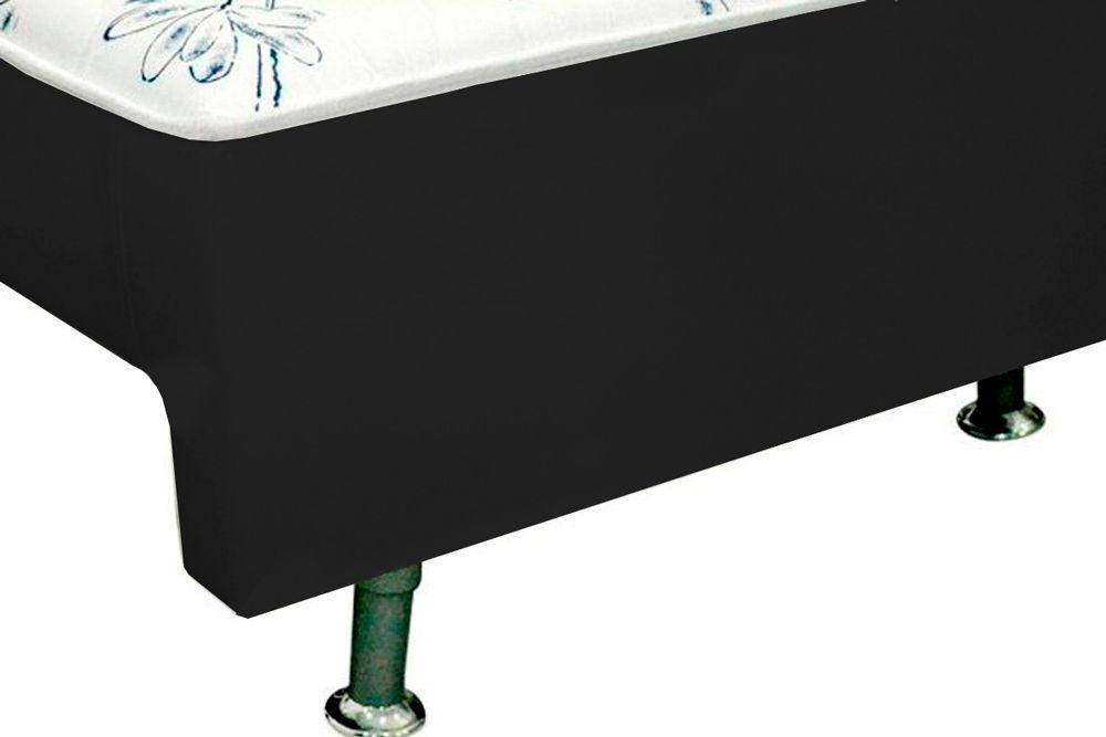 Conjunto Box + Colchão Conjugado Ortopédico c/ Auxiliar Courino Nero Vaz Ortobom  (Obrigatória a compra Cama Box + Auxiliar)