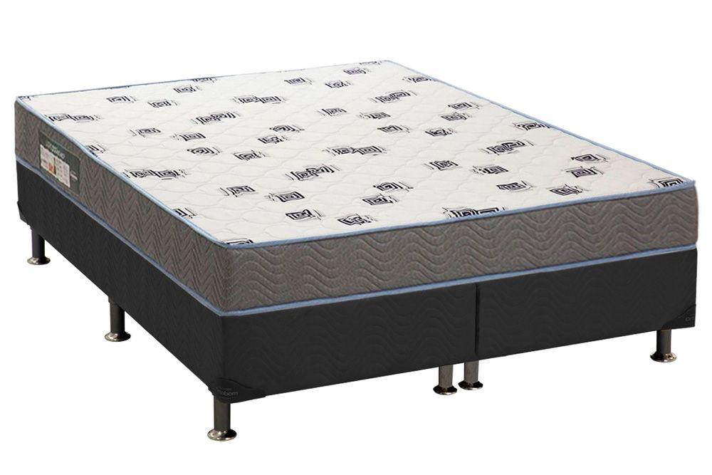 Conjunto Box - Colchão Ortobom D33 Light Saúde + Cama Box Universal CRC Camurça Grey