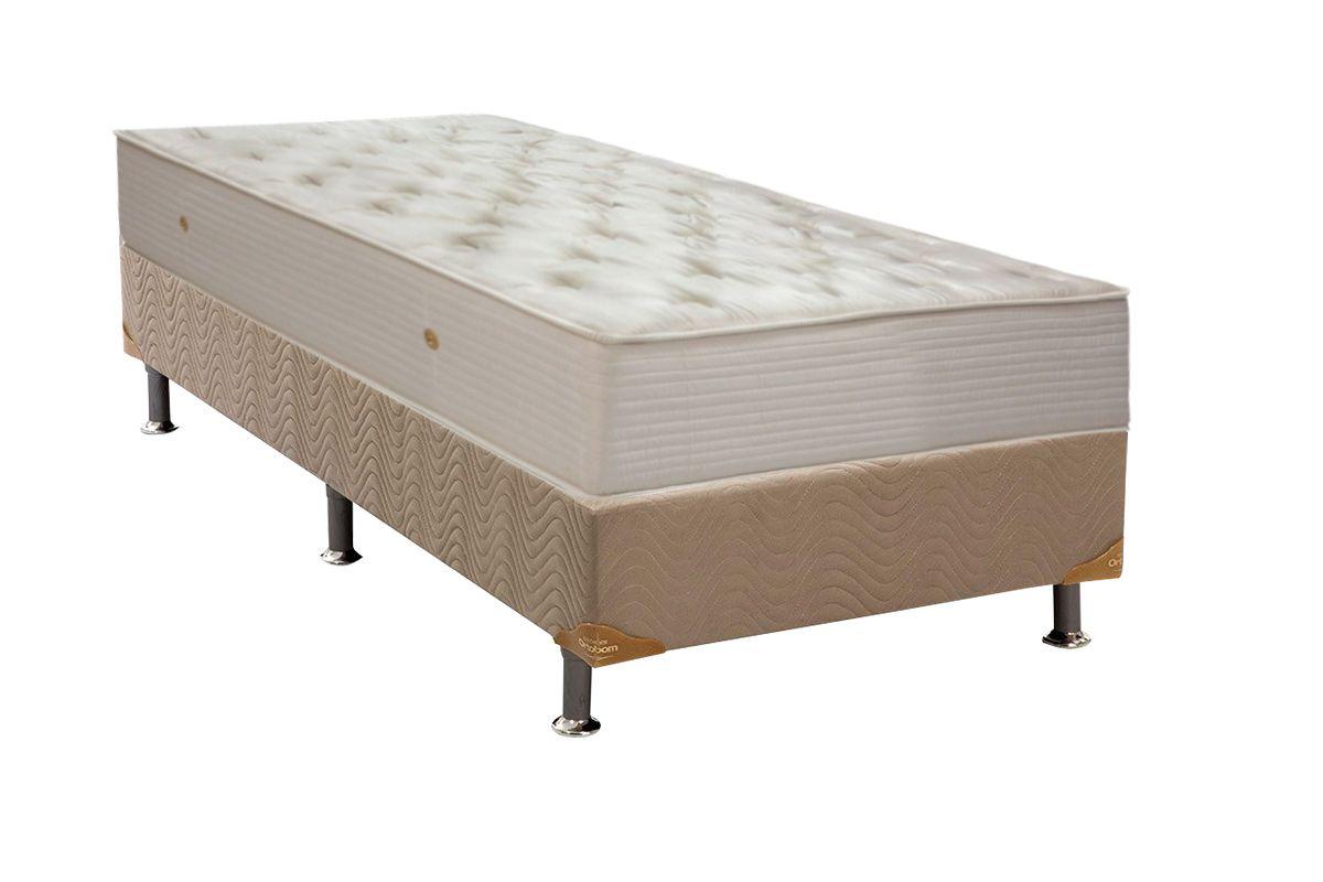 Conjunto Box de Hotel Ortobom de Molas Multilastic Orthotel Superluxo Box Nobuck Bege