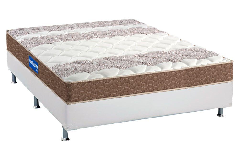 Conjunto Cama Box - Colchão Probel de Espuma D33 Guarda Costas 17cm + Box Universal Courino White