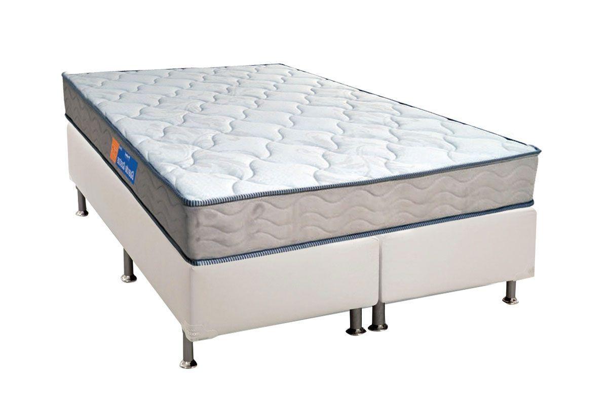 Conjunto Cama Box - Colchão Probel de Espuma D40 Guarda Costas 17cm + Cama Box Universal Courino White