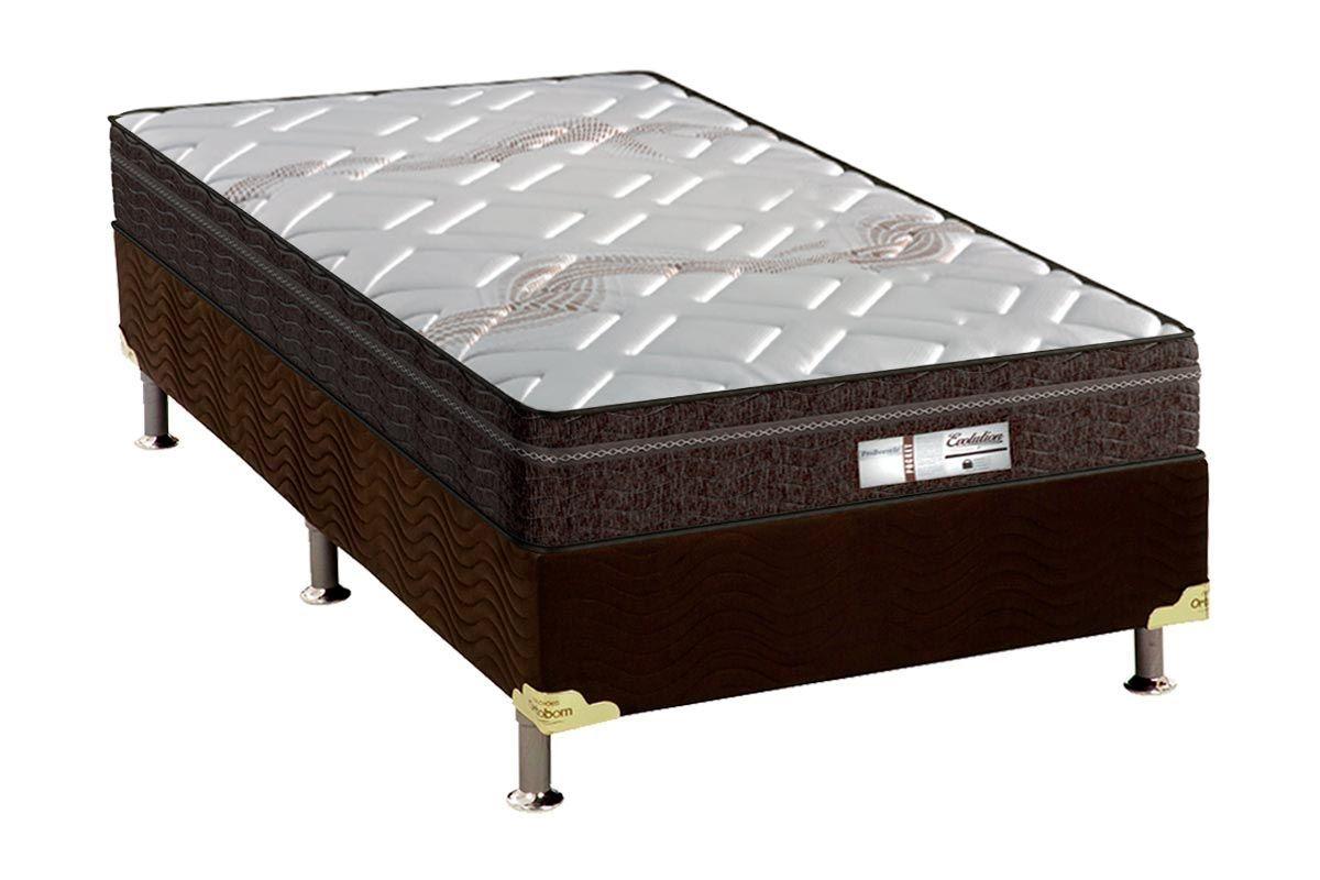 Conjunto Cama Box - Colchão Probel de Molas Pocket ProDormir Evolution + Cama Box Universal CRC Camurça Brown