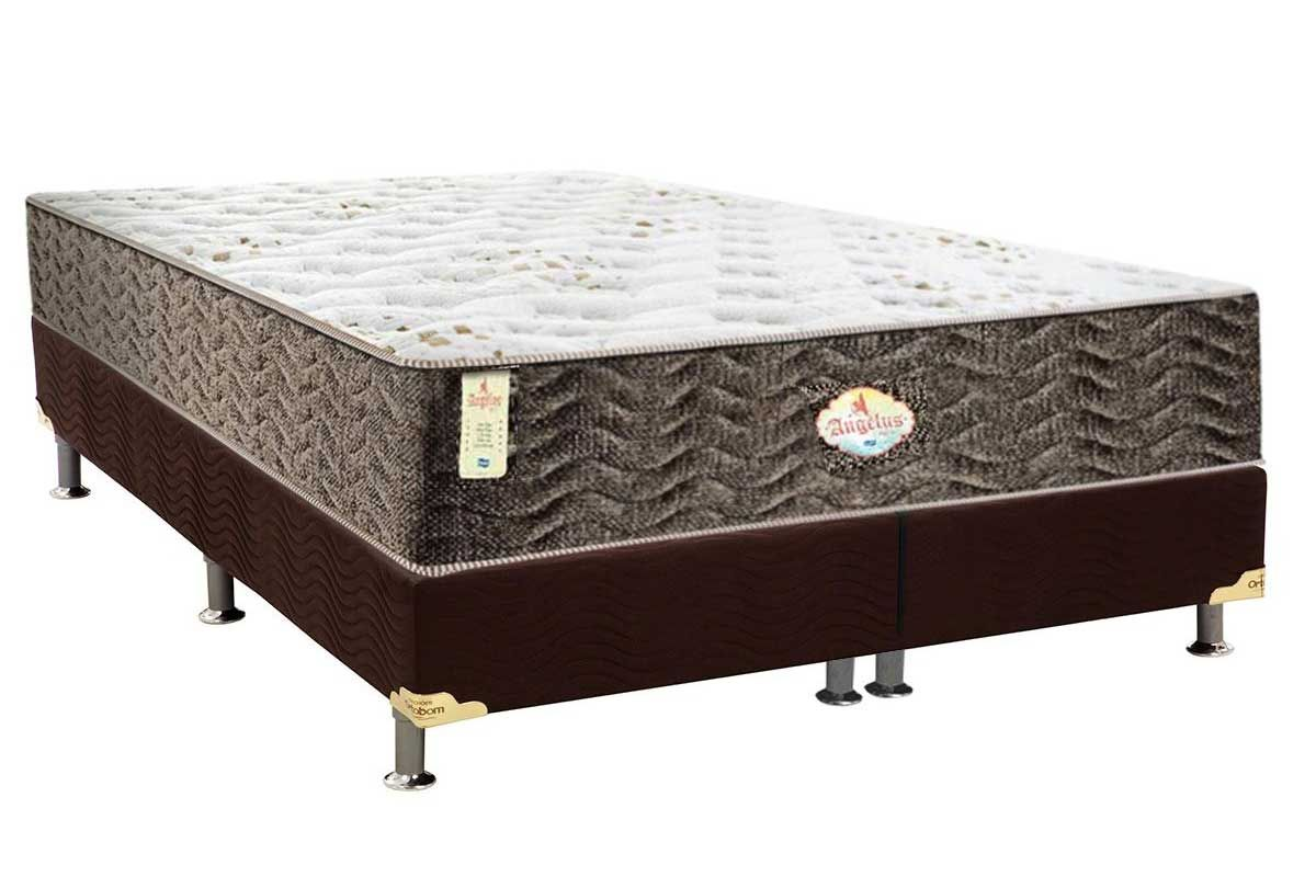 Conjunto Cama Box - Colchão Probel de Molas Pocket Angelus Springs + Cama Box Universal Nobuck Rosolare Café