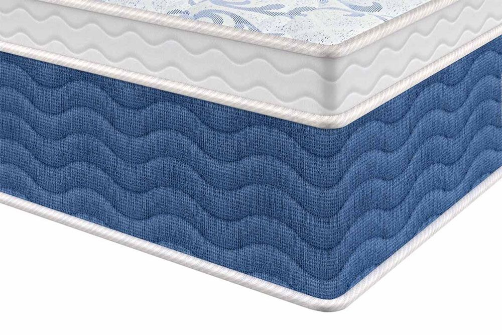 Conjunto Cama Box Baú - Colchão Probel de Molas Prolastic ProDormir Blue + Cama Box Baú Universal CRC Courino White