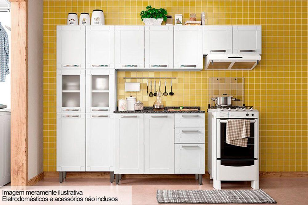 Cozinha Completa Bertolini Múltipla Aço 4 Peças (Paneleiro + 2 Armários+Gabinete Pia) Kit CZ88