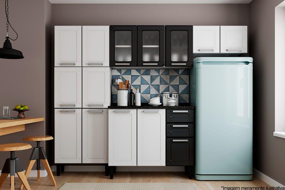 Cozinha Completa Bertolini Múltipla Aço 4 Peças (Paneleiro + 2 Armários + Gabinete) Kit CZ94