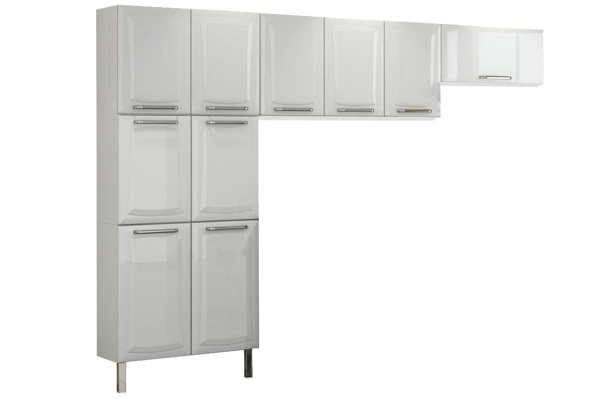 Cozinha Completa Itatiaia Tarsila de Aço c/3 Peças (Paneleiro+ Armários+Gabinete) Kit CZ103