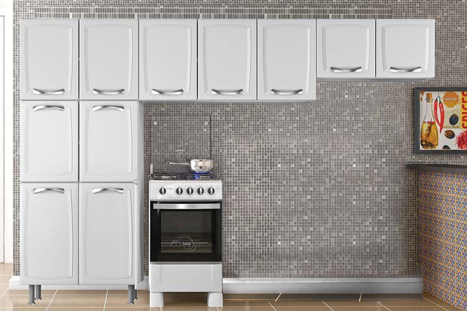 Cozinha Completa Itatiaia Premium de Aço c/3 Peças (Paneleiro+ 2 Armários) Kit CZ104