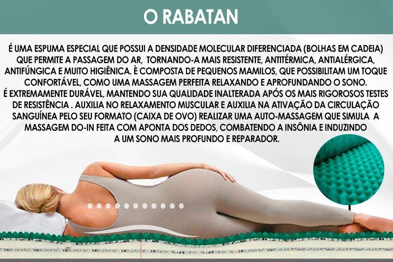 Conjunto Cama Box- Colchão Magnético Infravermelho c/ Massageador Delicatto + Cama Universal Nobuck Marrom