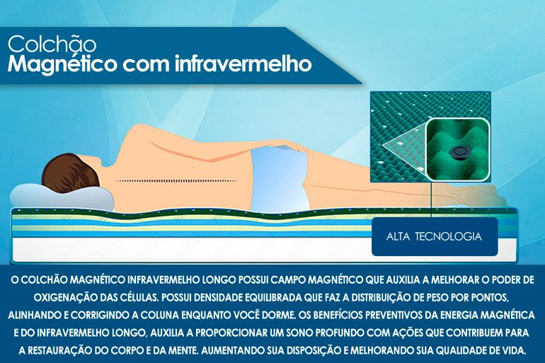 Conjunto Cama Box- Colchão Magnético Infravermelho American + Cama Universal Nobuck Bege