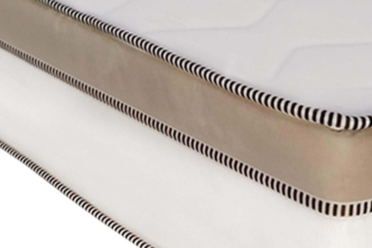 Conjunto Cama Box- Colchão de Molas Pocket Astro Europilow + Cama Universal Courino Branco