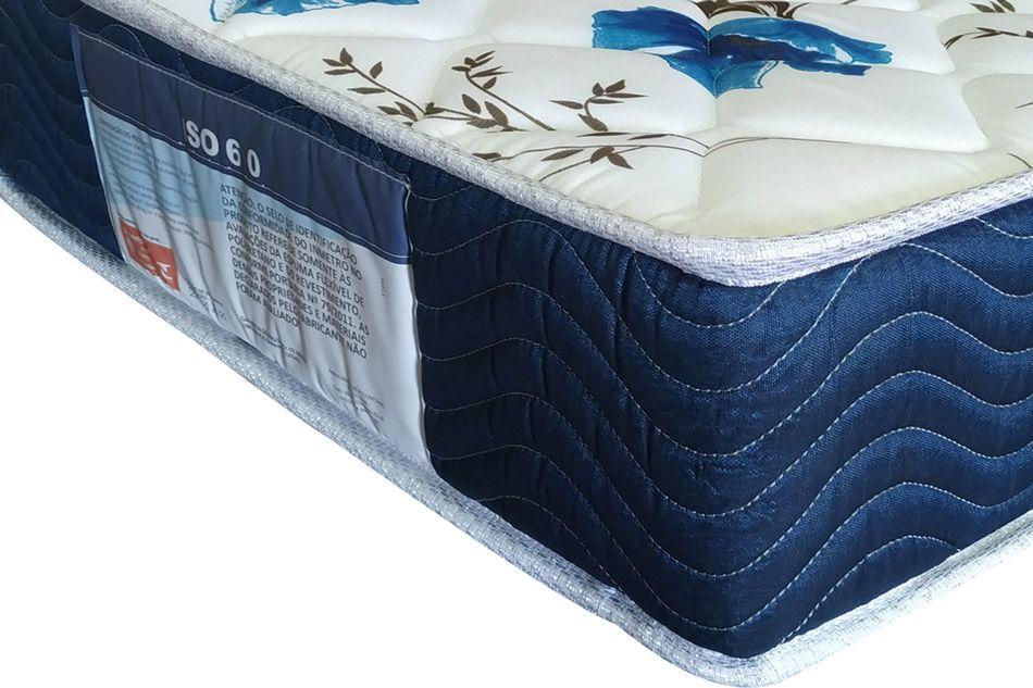 Conjunto Cama Box - Colchão Ortobom D28 Fort Tech ISO 60 18cm + Cama Box Universal Courino Branco