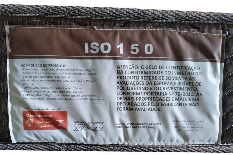 Conjunto Box - Colchão Ortobom D45 Fort Tech ISO 150 28cm + Cama Box Universal CRC Camurça Brown