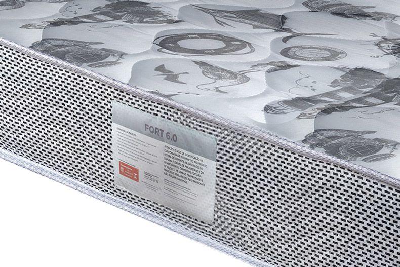 Conjunto Box - Colchão Ortobom Espuma Ortopédica Fort Tech 18cm + Cama Universal Black