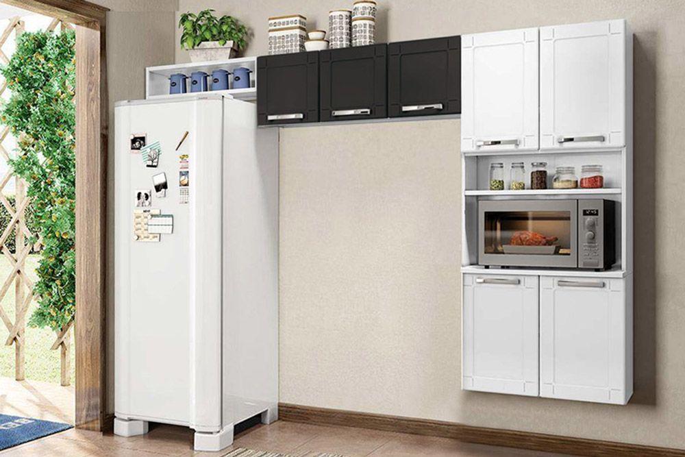 Cozinha Completa Bertolini Múltipla Aço 3 Peças (Paneleiro Torre Quente+1 Armário+Nicho) CZ112