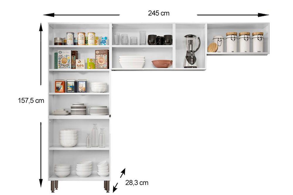 Cozinha Completa Bertolini Múltipla Aço 3 Peças (Paneleiro Duplo+2 Armários) CZ114