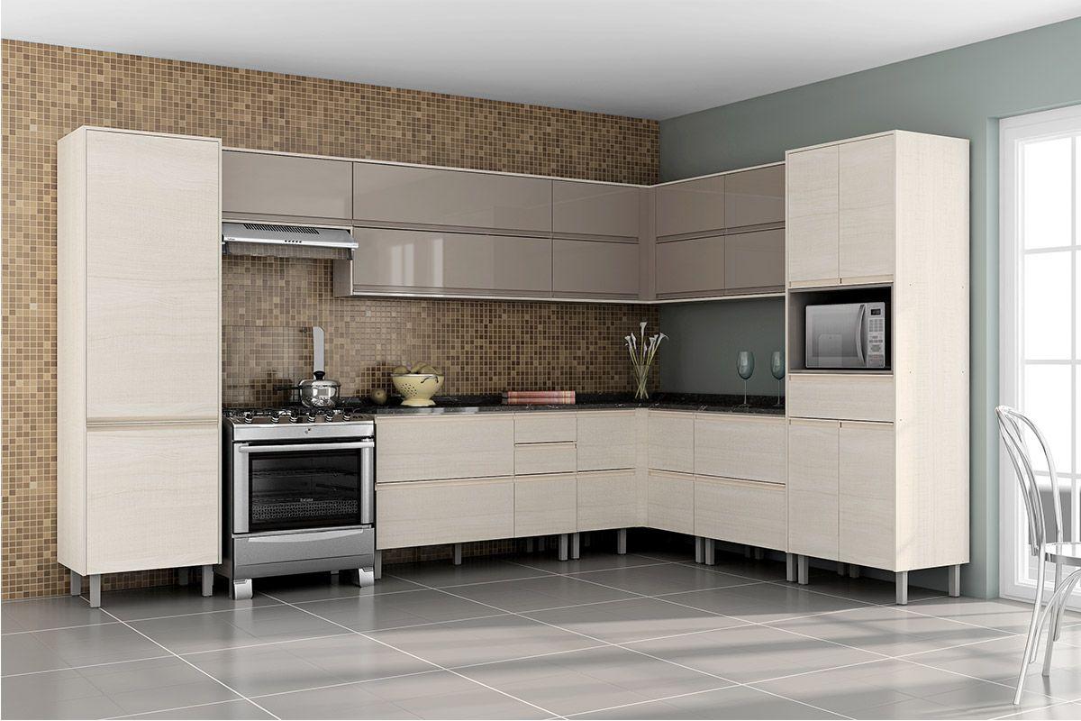 #5D4E3D (Balcão) de Cozinha Itatiaia Belíssima IGCRART Madeira Canto  1200x800 px Armario De Cozinha Compacta De Canto #1943 imagens