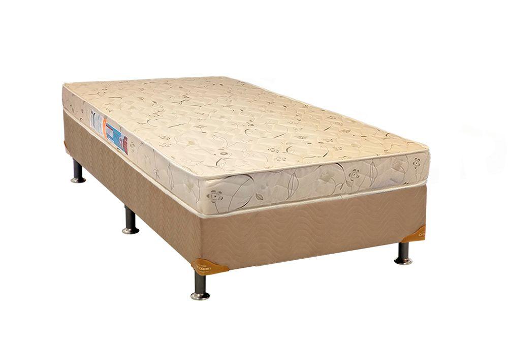 Conjunto Box - Colchão Luckspuma Serene D26 17cm + Cama Box Universal Nobuck Crema