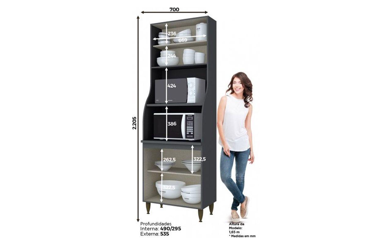 Cozinha Completa Henn Decore c/ 3 Peças (Torre Quente+Aéreo+Balcão) CZ129