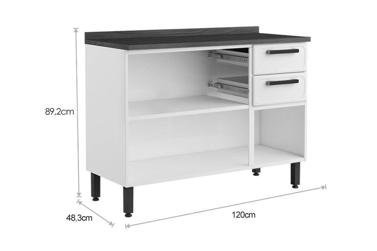 Cozinha Completa Bertolini Origens Aço 4 Peças (Paneleiro + 2 Aéreos+ Balcão) CZ161