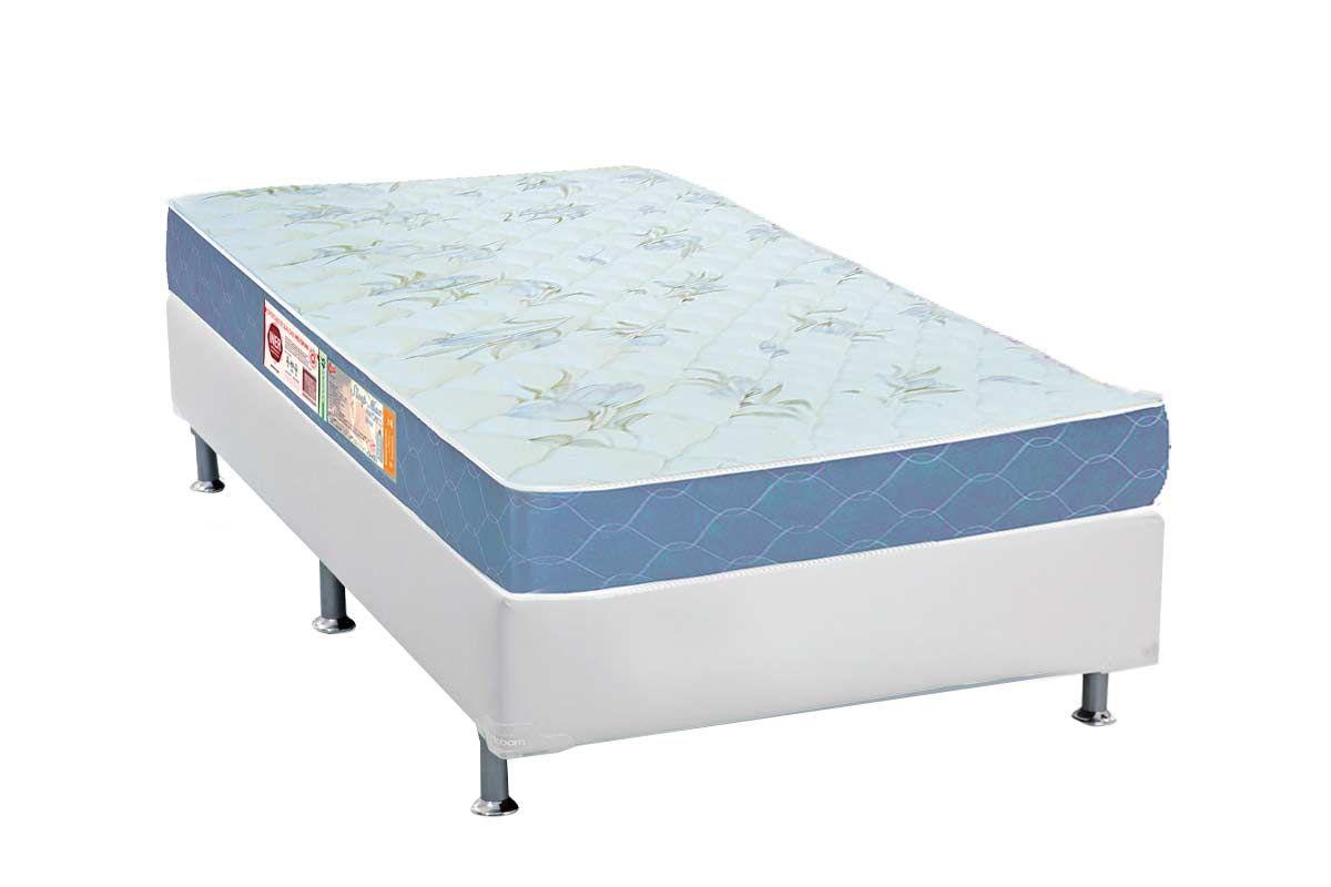 Conjunto Box - Colchão Castor de Espuma D45 Sleep Max 18cm+Cama Box Universal CRC Courino Bianco