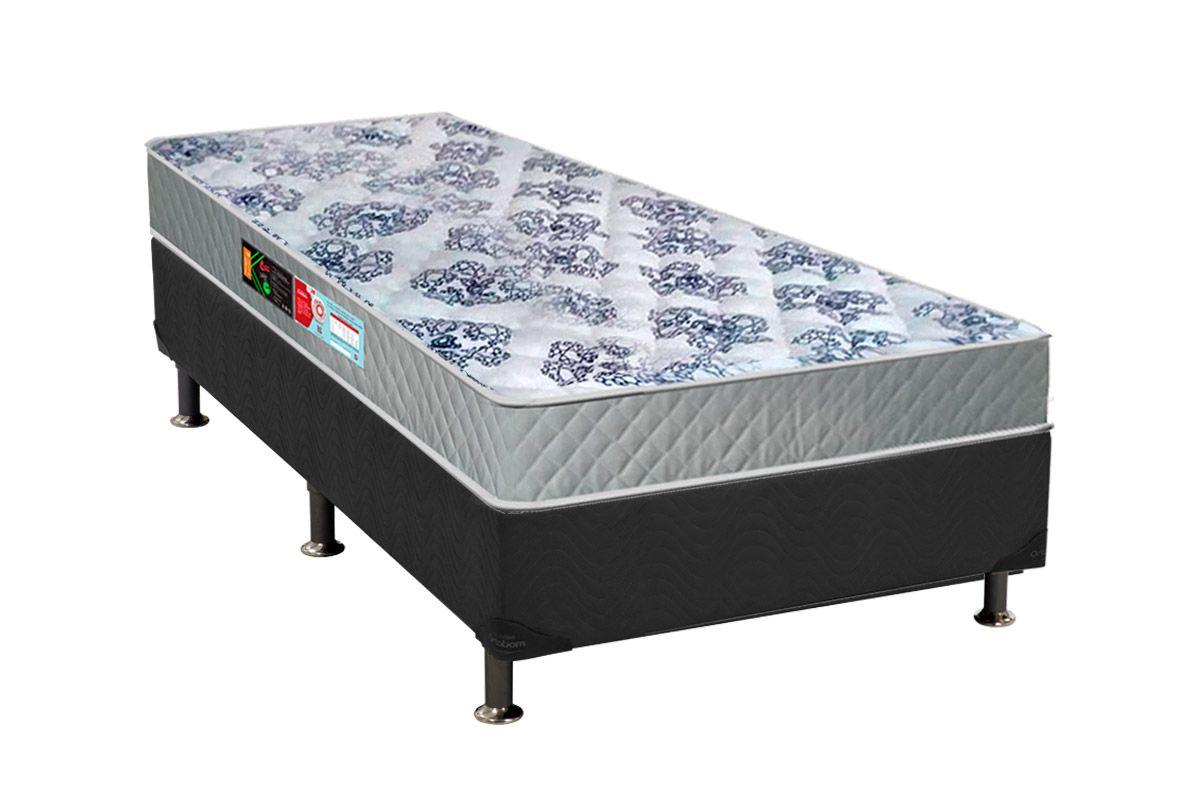 Conjunto Cama Box - Colchão Castor de Espuma D26 Sleep Max 18cm+Cama Box Universal Courino Bianco