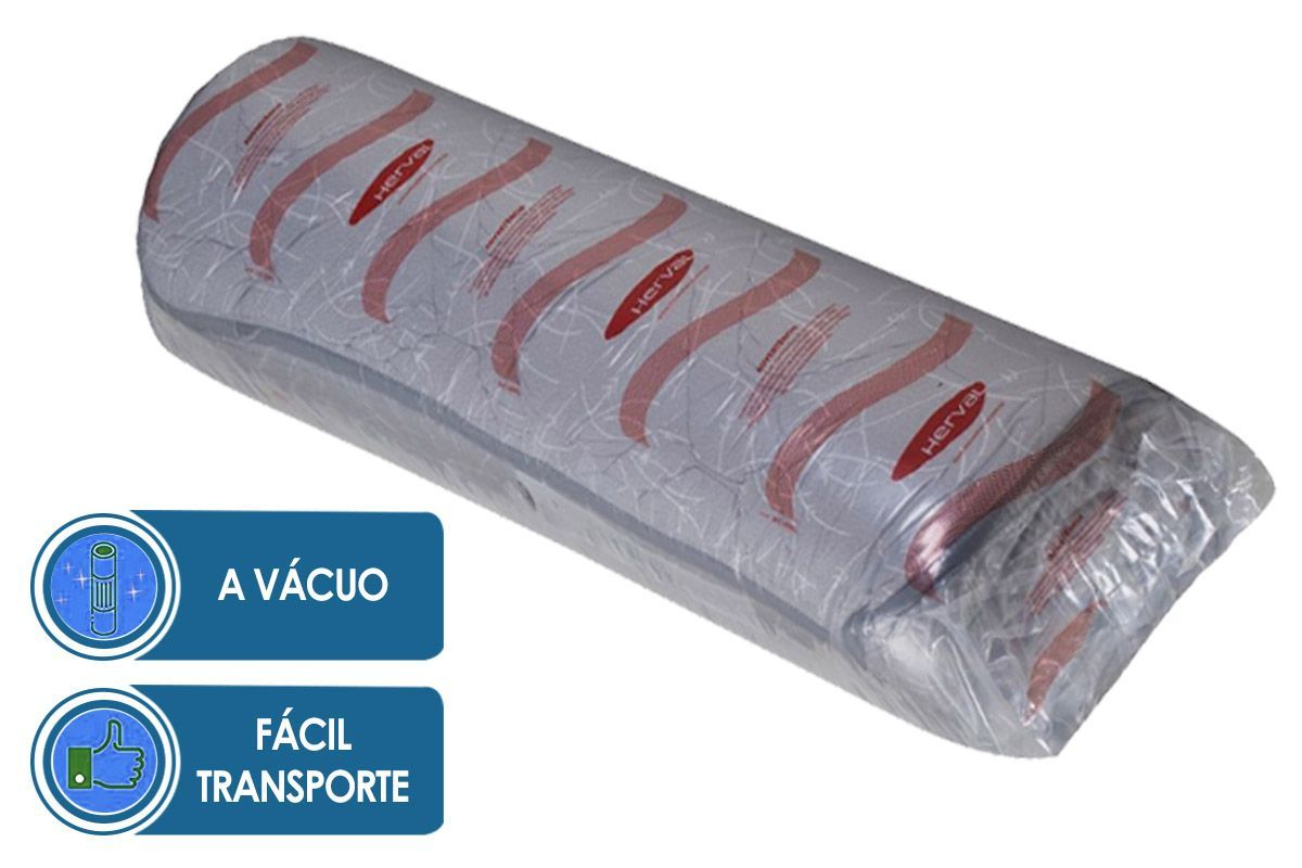 Conjunto Cama Box - Colchão Herval de Epuma D33 Mega Firm (C1429)+ Cama Box Base Universal Nobuck Cinza