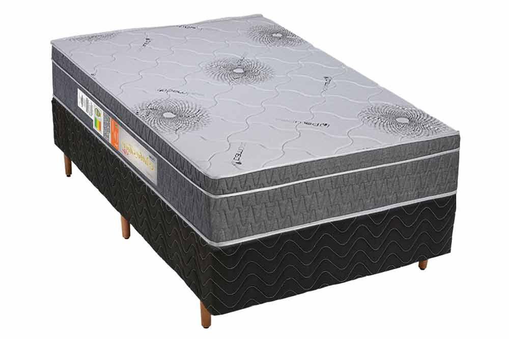 Conjunto - Cama Box + Colchão Polar Espuma Ortopédica Orthoface Vip Gray