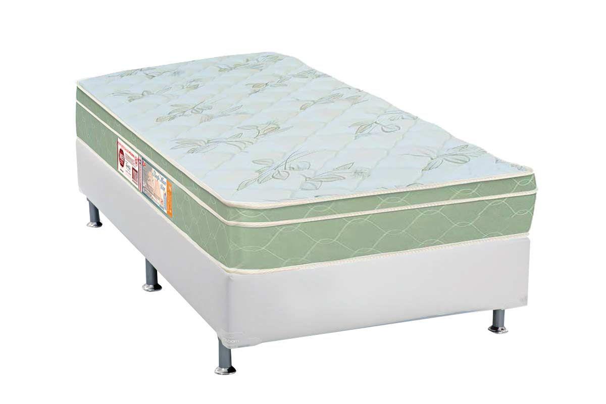 Conjunto Box - Colchão Castor de Espuma D33 Sleep Max 25cm+Cama Box Universal CRC Courino White