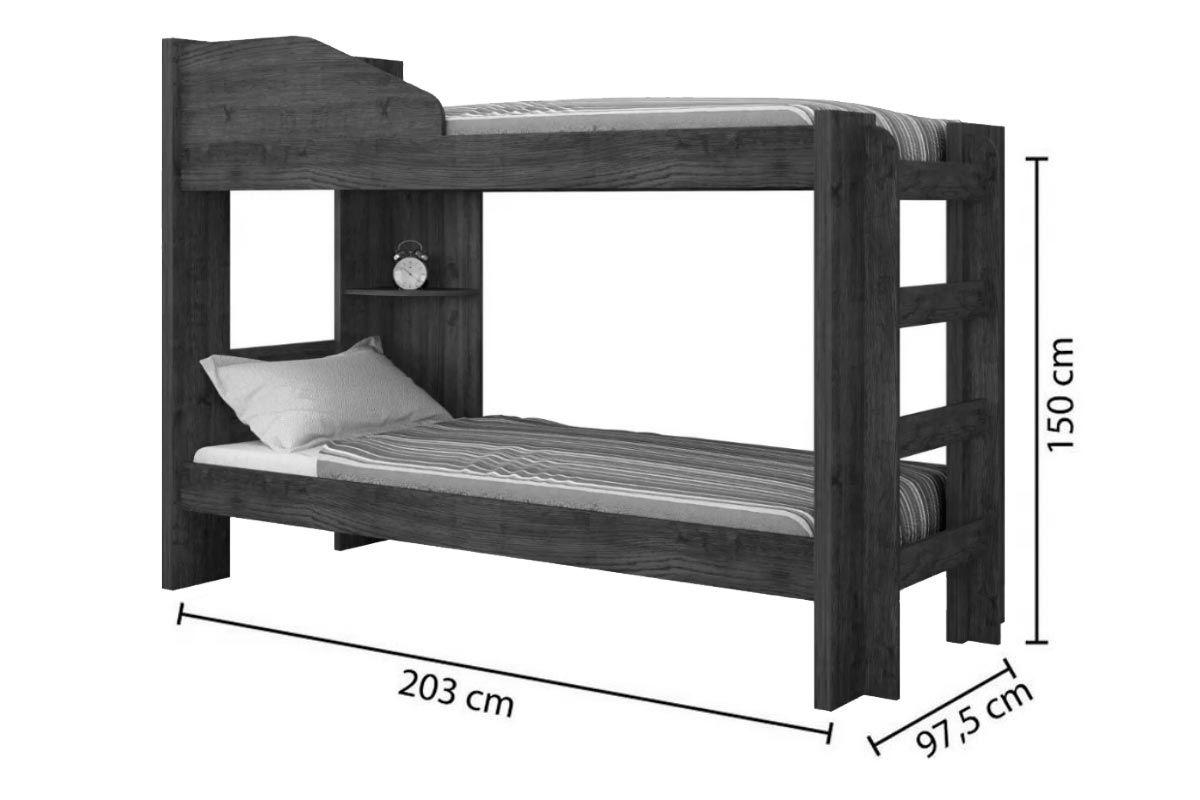 Beliche Conquista Indy (Grade Proteção+Escadas+Prateleira) + 2 Colchões