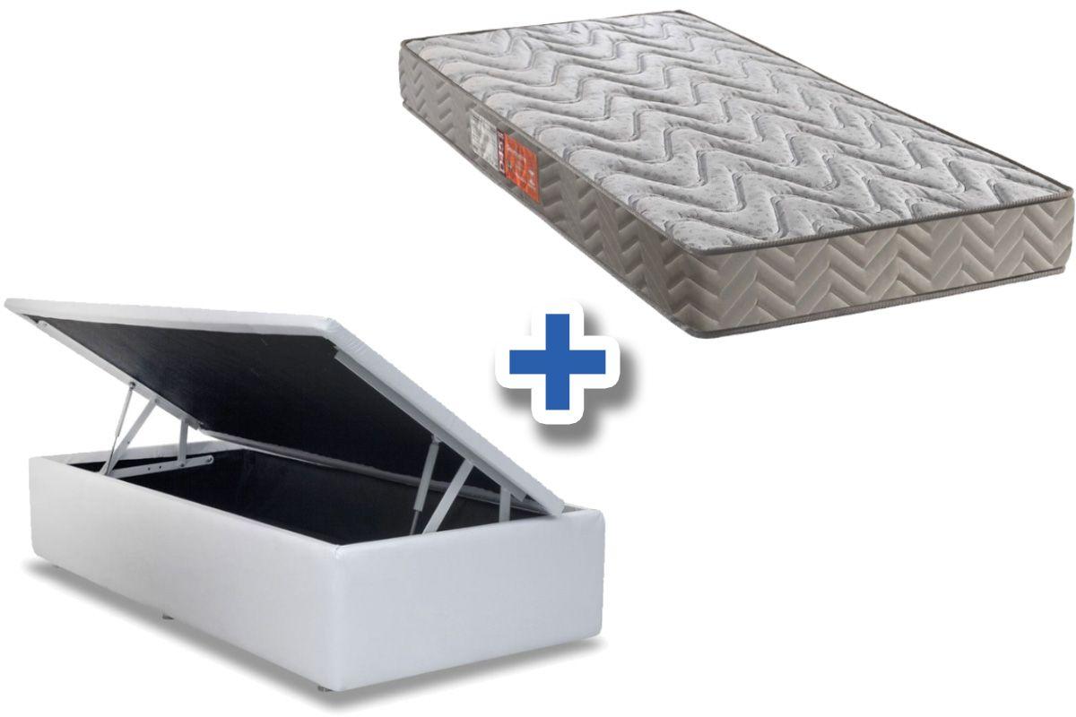 Conjunto Cama Box Baú + Colchão Paropas Espuma D45 Pasquale Clean