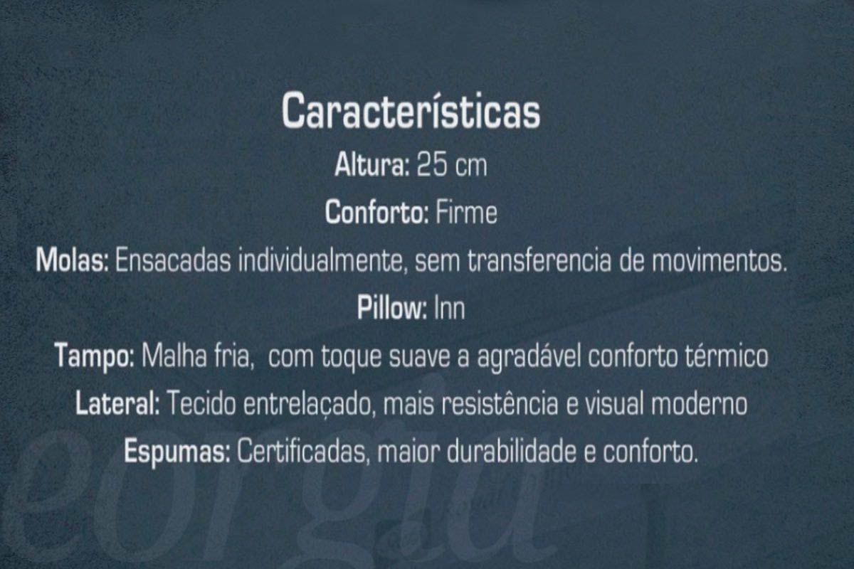 Conjunto 4 em 1 (Cama Box + Baú + Cama Auxiliar Courino Bianco Ortobom) + (Colchão Sealy Molas Pocket Georgia)