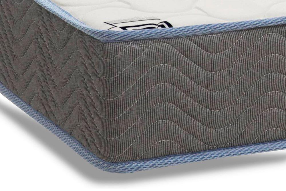 Conjunto Baú - Colchão Ortobom Espuma D33 Light Saúde Selado + Cama Box Baú Universal CRC Camurça Grey