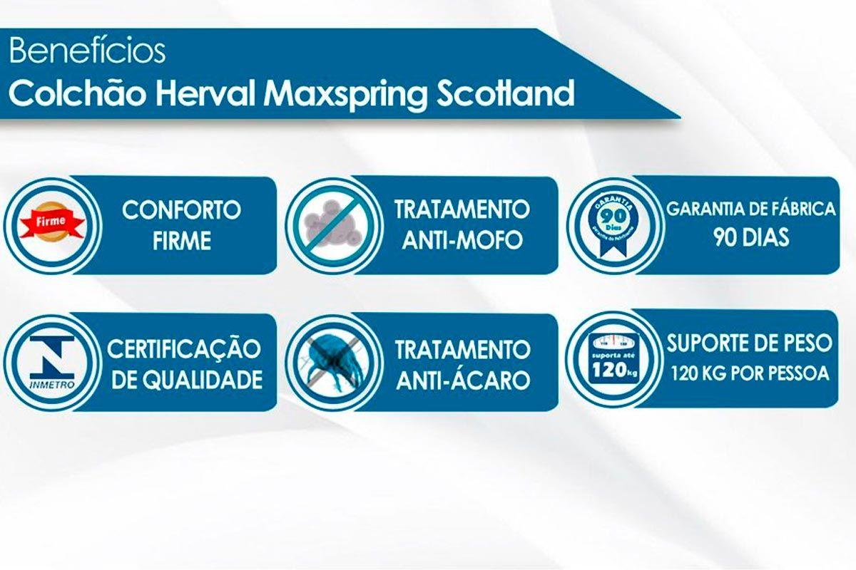 Guarda Roupa Santos Andirá Imaginare c/ 6 Portas e 4 Gavetas + Cama Box Universal CRC + Colchão Herval Molas Maxspring Scotland