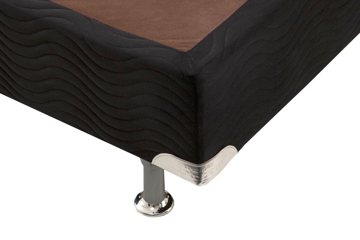 Cama Box Base Ortobom Universal Nobuck Nero Black 020