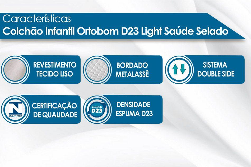 30c1cec29 Outras Medidas Sob Consulta Foto meramente ilustrativa. Colchão Infantil  Ortobom de Espuma D23 Light Saúde Selado INMETRO ...