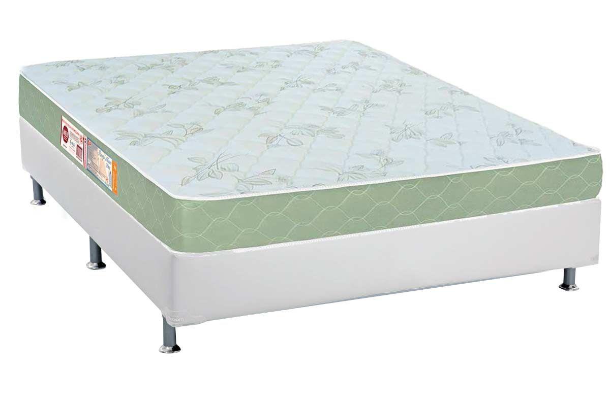 Conjunto Box - Colchão Castor de Espuma D33 Sleep Max 18cm+Cama Box Courino Bianco 023