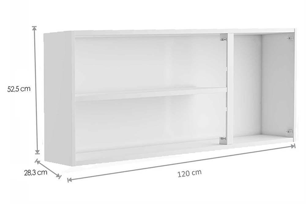Cozinha Completa Bertolini Origens 4 Peças (1 Paneleiro c/ Vidro + 2 Aéreos + 1 Ganinete c/ Tampo) Kit CZ174