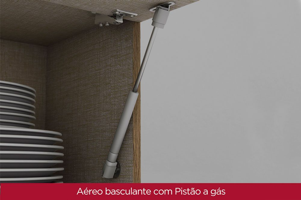 Cozinha Completa Henn Integra c/ 4 Peças (1 Torre Quente + 2 Aéreos + 1 Balcão) CZ145