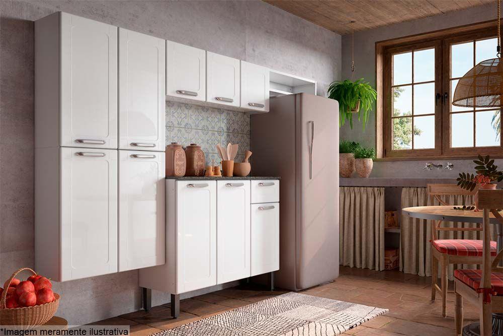 Cozinha Completa Bertolini Dona Maria 4 Peças (1 Paneleiro + 1 Aéreo + 1 Nicho + 1 Gabinete)  Kit CZ175